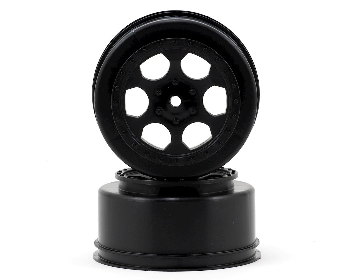 "DE Racing 12mm Hex ""Trinidad"" Short Course Wheels (Black) (2) (SC5M) (Team Associated SC10B)"