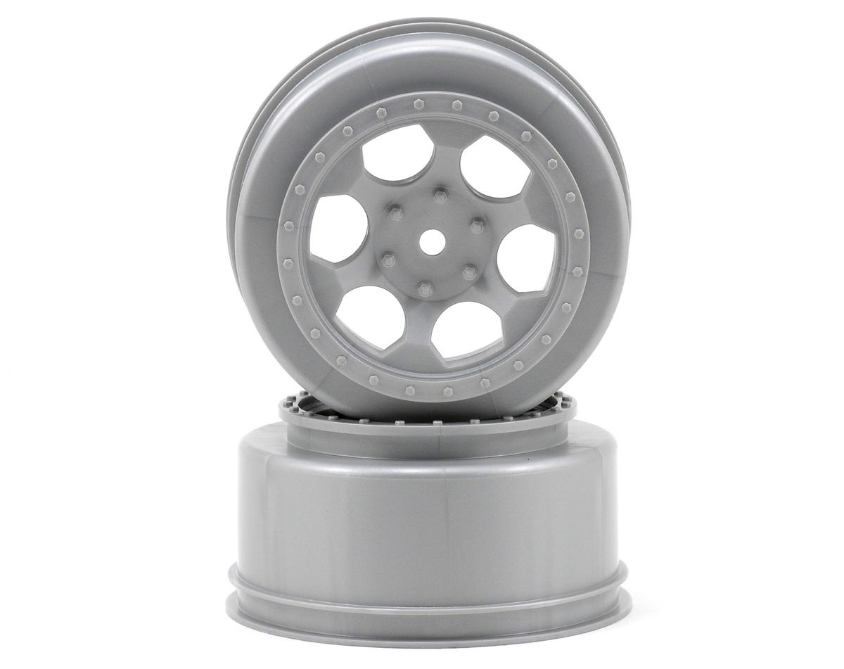 "DE Racing 12mm Hex ""Trinidad"" Short Course Wheels (Silver) (2) (SC5M) (Team Associated SC10B)"