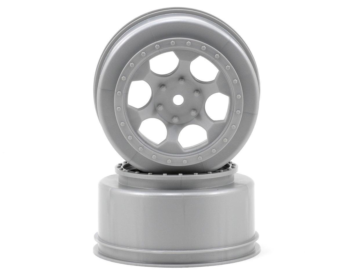 """12mm Hex """"Trinidad"""" Short Course Wheels (Silver) (2) (SC5M) by DE Racing"""