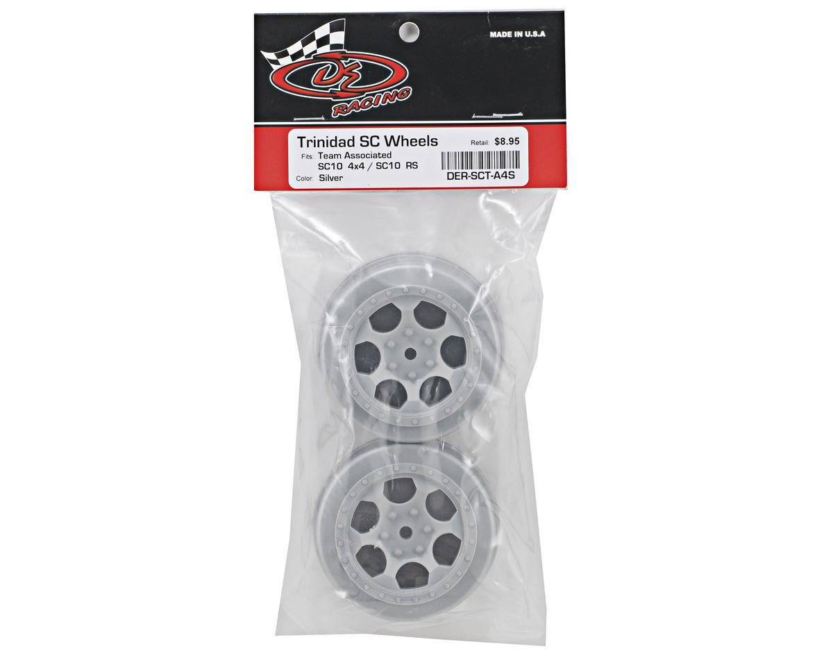 "Image 2 for DE Racing 12mm Hex ""Trinidad"" Short Course Wheels (Silver) (2) (SC5M)"