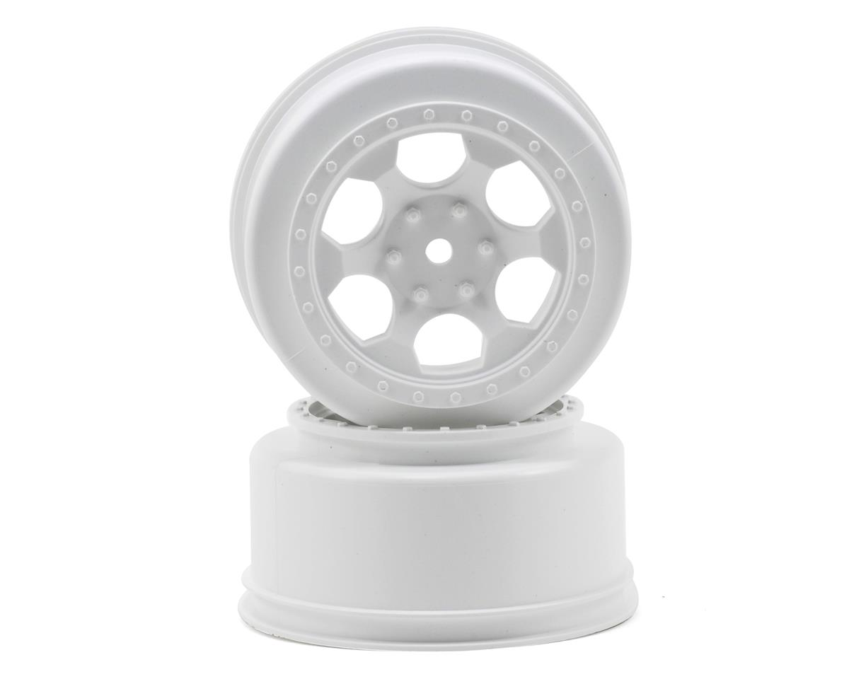"DE Racing 12mm Hex ""Trinidad"" Short Course Wheels (White) (2) (SC5M) (Team Associated SC10B)"