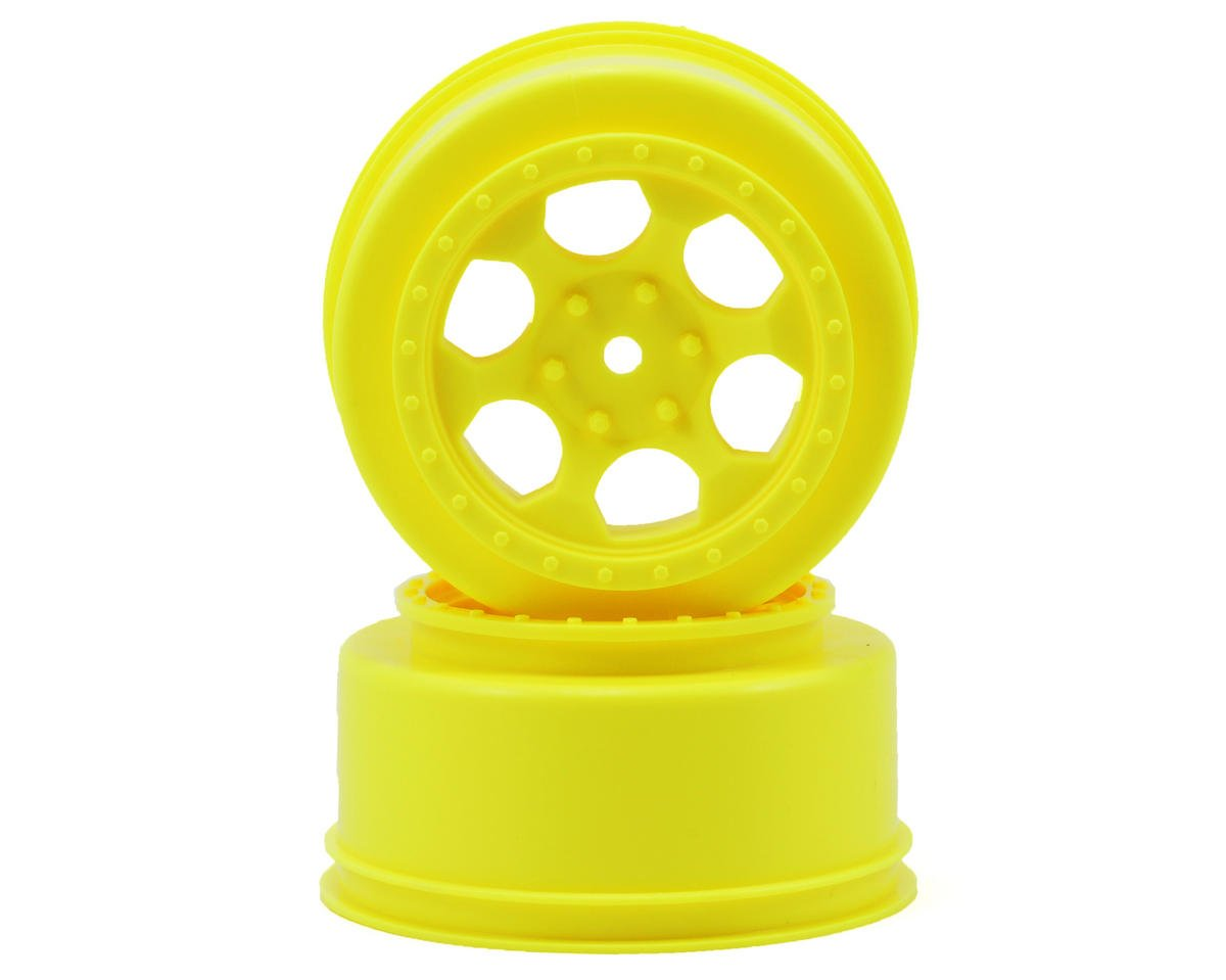"DE Racing 12mm Hex ""Trinidad"" Short Course Wheels (Yellow) (2) (SC5M) (Team Associated ProSC 4x4)"