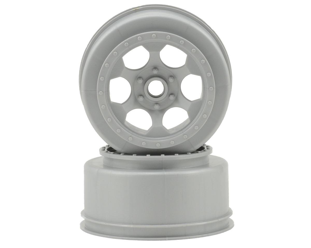 """DE Racing """"Trinidad"""" Short Course Wheels (Silver) (2) (SC10 Front) (Not Hex)"""