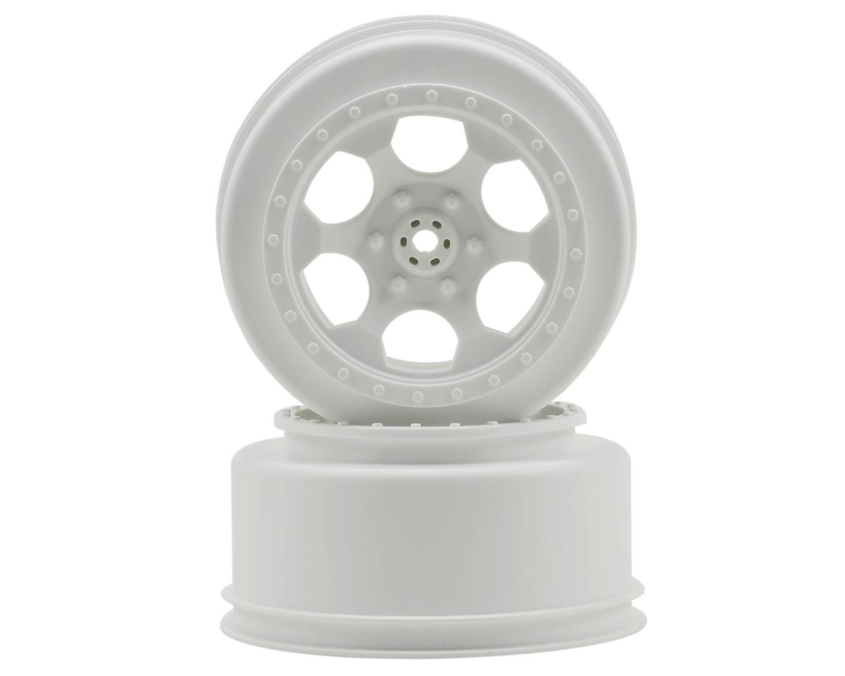 "DE Racing ""Trinidad"" Short Course Wheels (White) (2) (SC10 Rear) (Not Hex)"