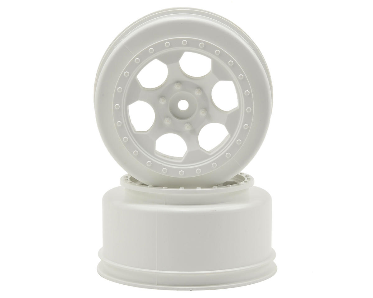DE Racing Trinidad Short Course Wheels w/3mm Offset (White) (2) (SC5M) (Team Associated ProSC 4x4)