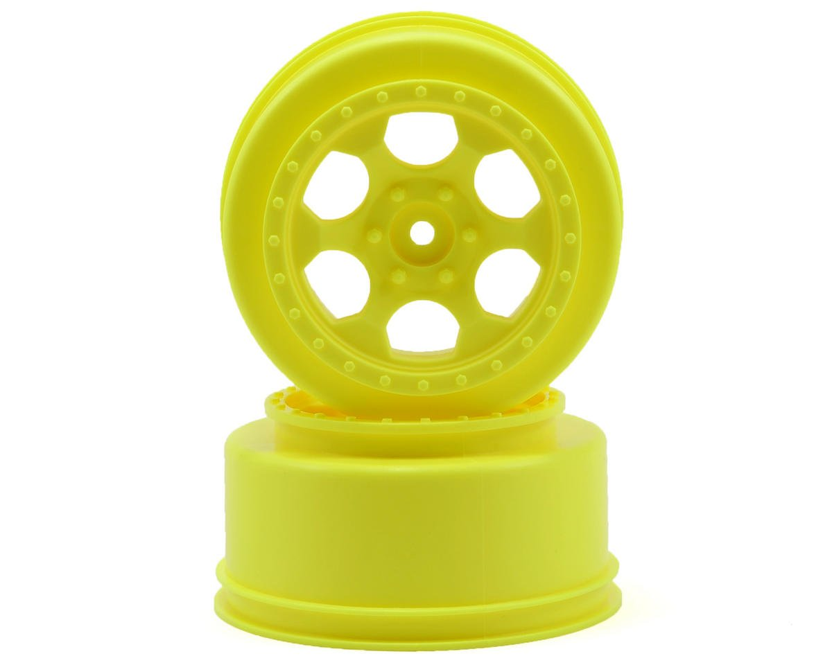 DE Racing Trinidad Short Course Wheels w/3mm Offset (Yellow) (2) (SC5M)