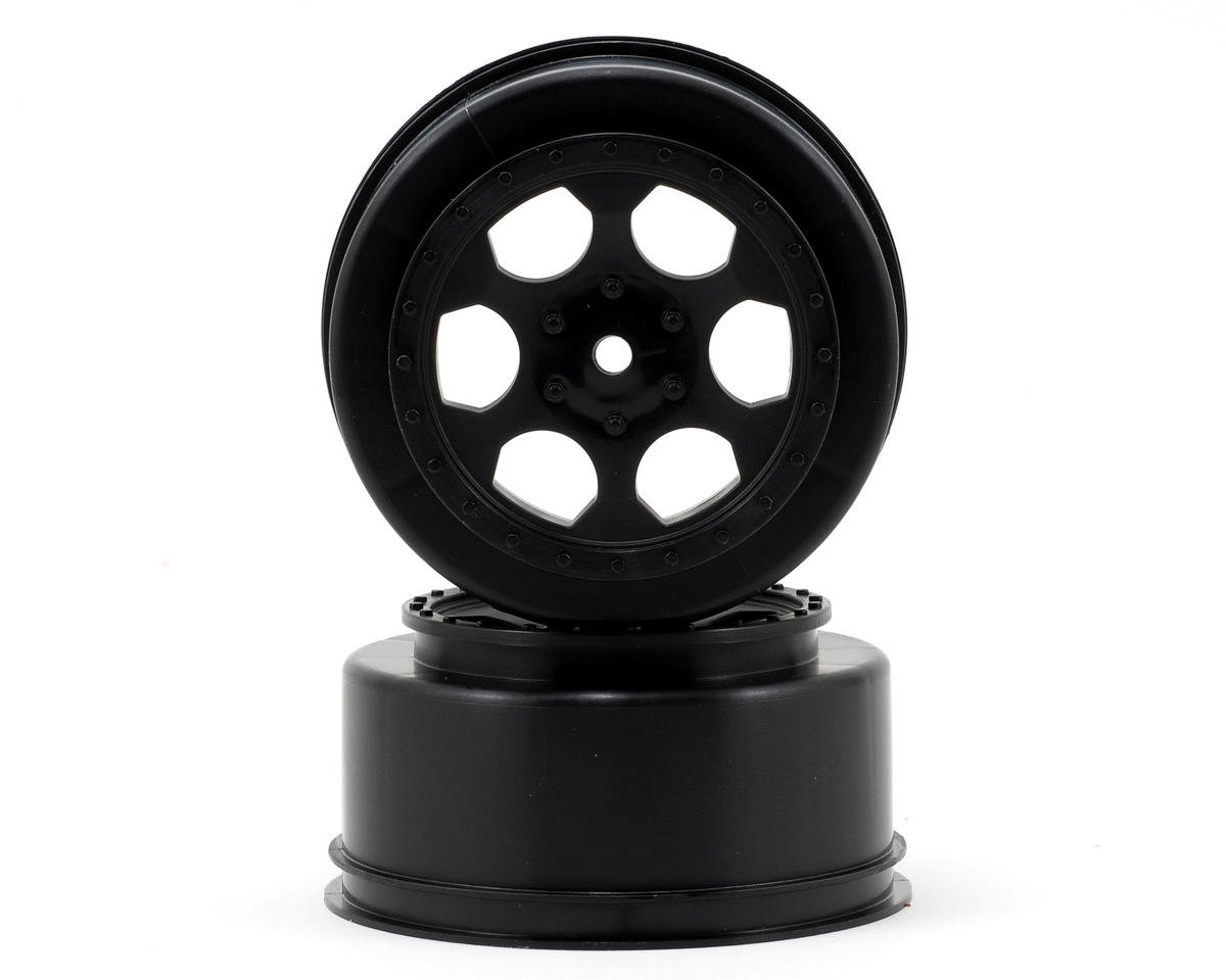 "DE Racing 15mm Hex ""Trinidad"" Short Course Wheels (Black) (2) (DESC210/410) (Team Durango DESC410R V2)"