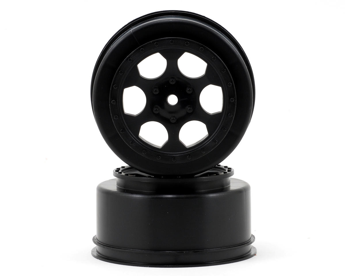 "15mm Hex ""Trinidad"" Short Course Wheels (Black) (2) (DESC210/410) by DE Racing"
