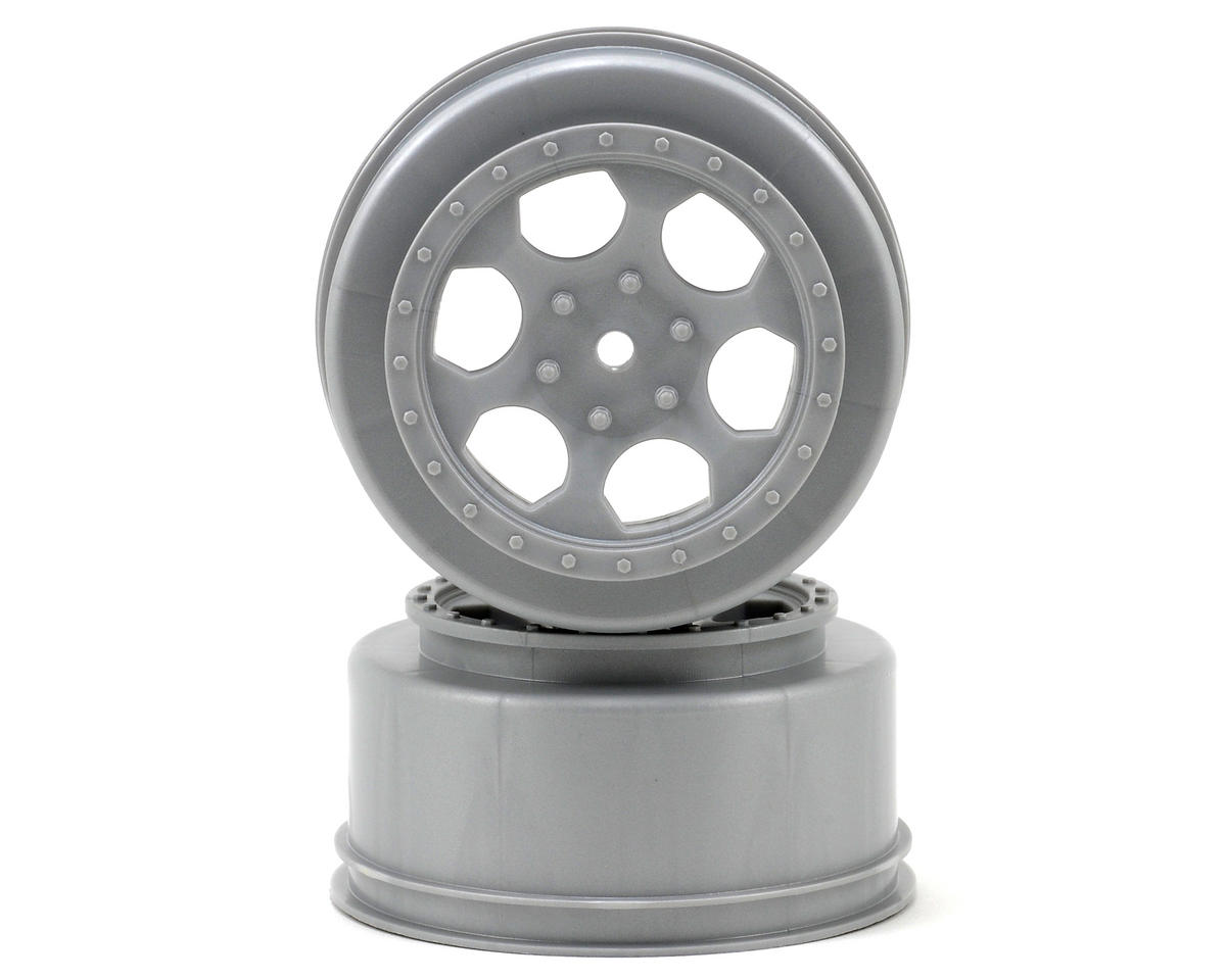 "DE Racing 15mm Hex ""Trinidad"" Short Course Wheels (Silver) (2) (DESC210/410)"
