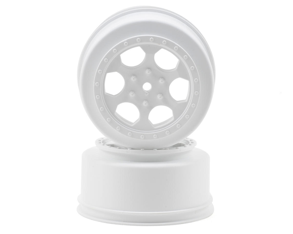 "DE Racing 15mm Hex ""Trinidad"" Short Course Wheels (White) (2) (DESC210/410)"