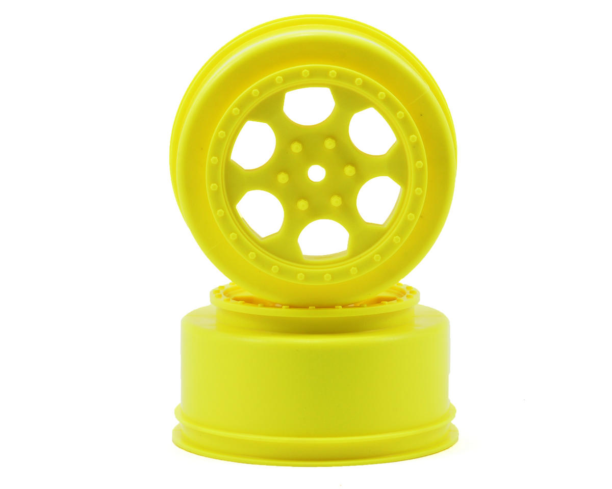 "DE Racing 15mm Hex ""Trinidad"" Short Course Wheels (Yellow) (2) (DESC210/410)"