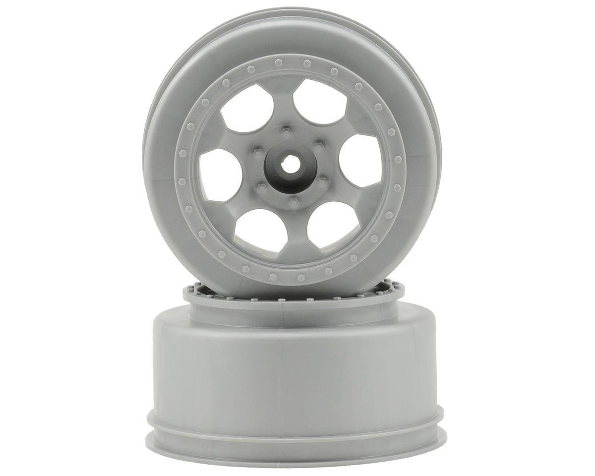 """DE Racing 12mm Hex """"Trinidad"""" Short Course Wheels (Silver) (2) (Slash Front)"""