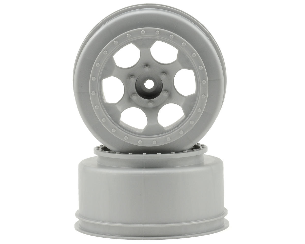 "12mm Hex ""Trinidad"" Short Course Wheels (Silver) (2) (Slash Front) by DE Racing"
