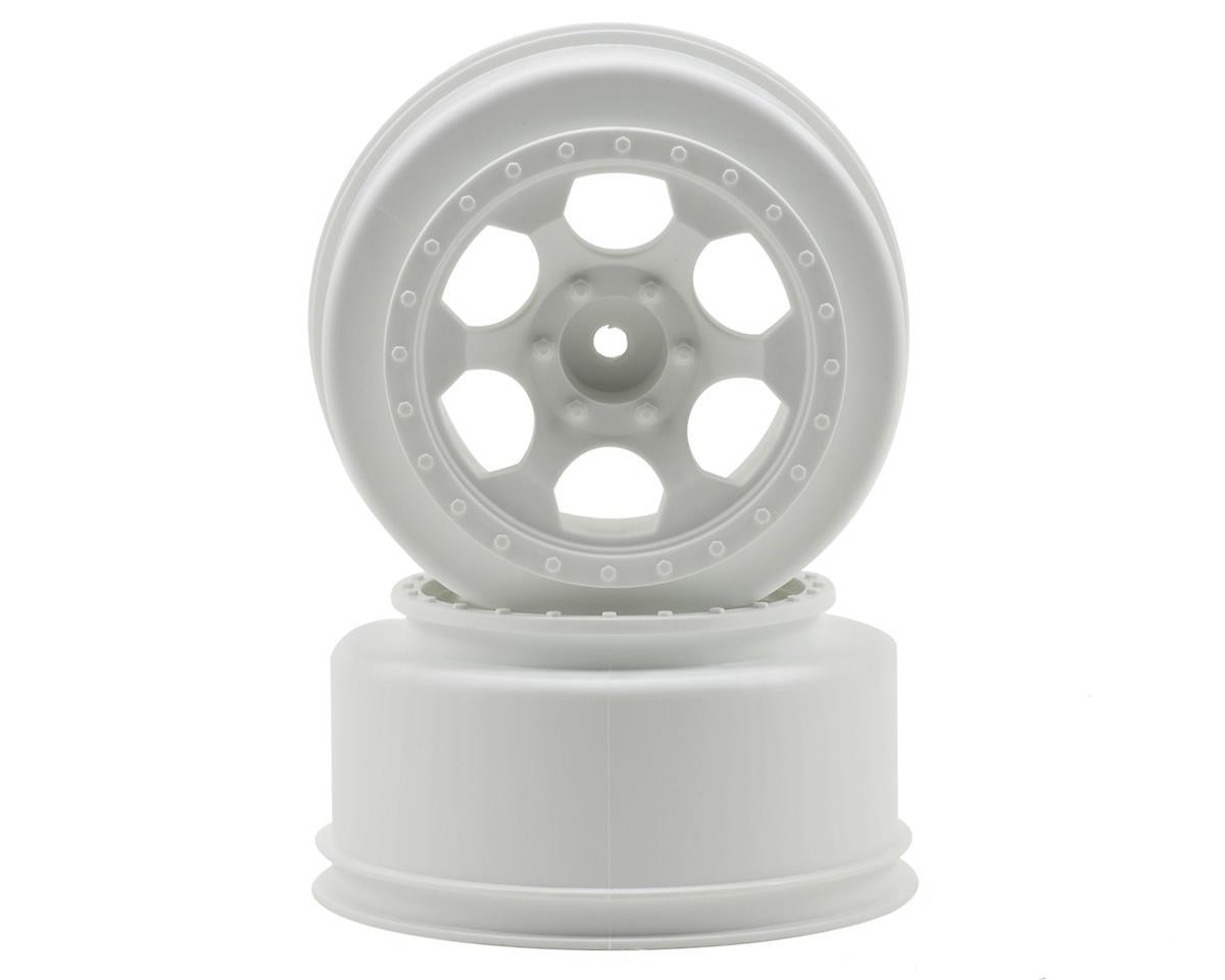 """DE Racing 12mm Hex """"Trinidad"""" Short Course Wheels (White) (2) (Slash Front)"""