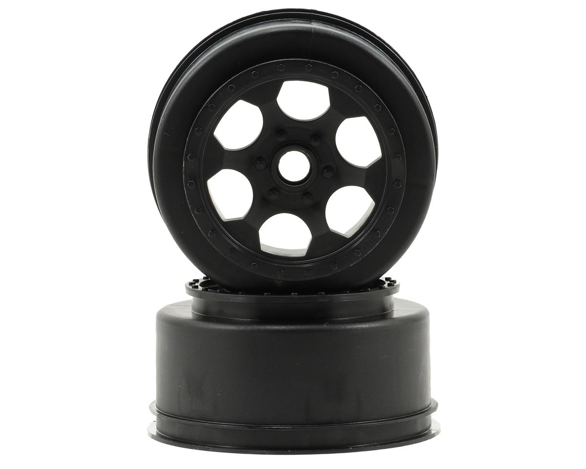 DE Racing Trinidad Short Course Wheels (Black) (2) (XXX-SCT/SCB Front) (Losi XXX-SCB)