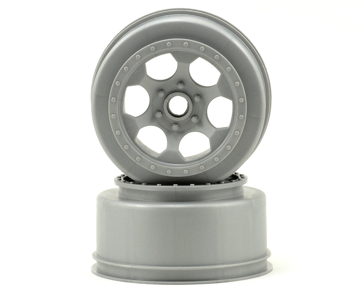 "DE Racing ""Trinidad"" Short Course Wheels (Silver) (2) (XXX-SCT/SCB Front) (Not Hex)"