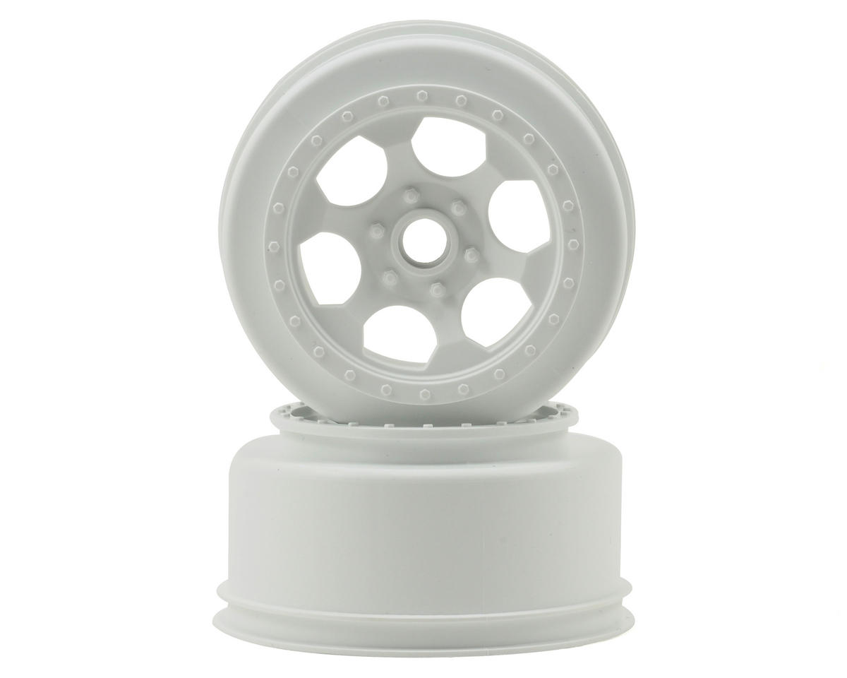 DE Racing Trinidad Short Course Wheels (White) (2) (XXX-SCT/SCB Front)