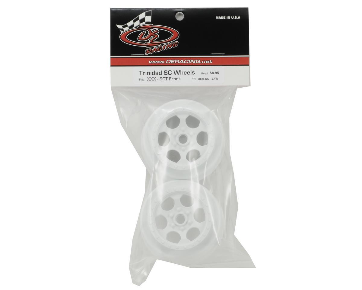 DE Racing Trinidad Short Course Wheels (White) (2) (XXX-SCT/SCB Front)