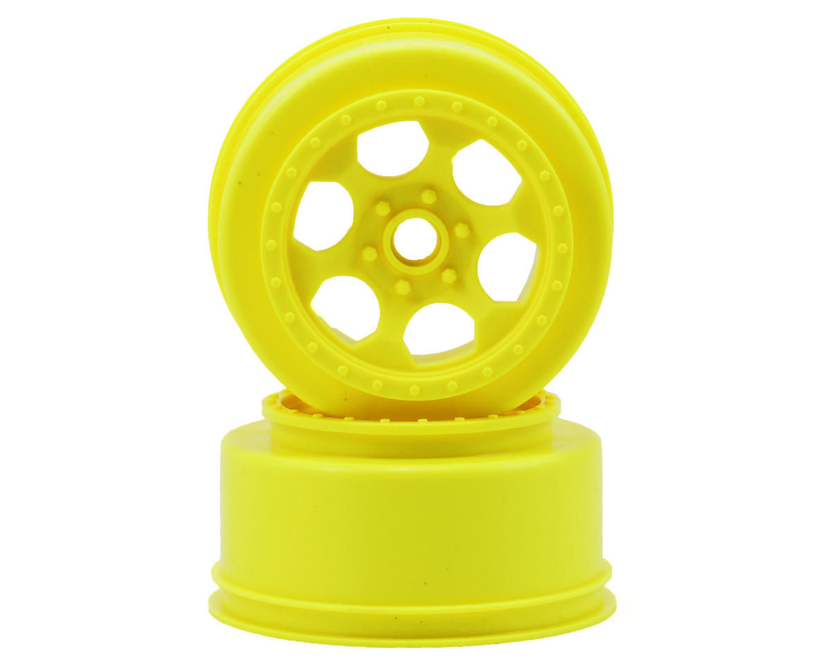 DE Racing Trinidad Short Course Wheels (Yellow) (2) (XXX-SCT/SCB Front)