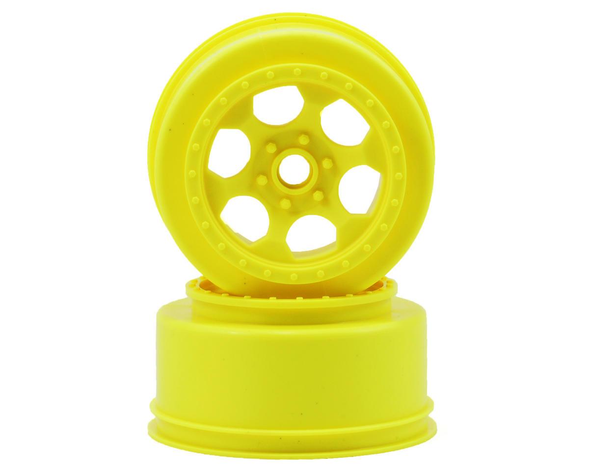 DE Racing Trinidad Short Course Wheels (Yellow) (2) (XXX-SCT/SCB Front)