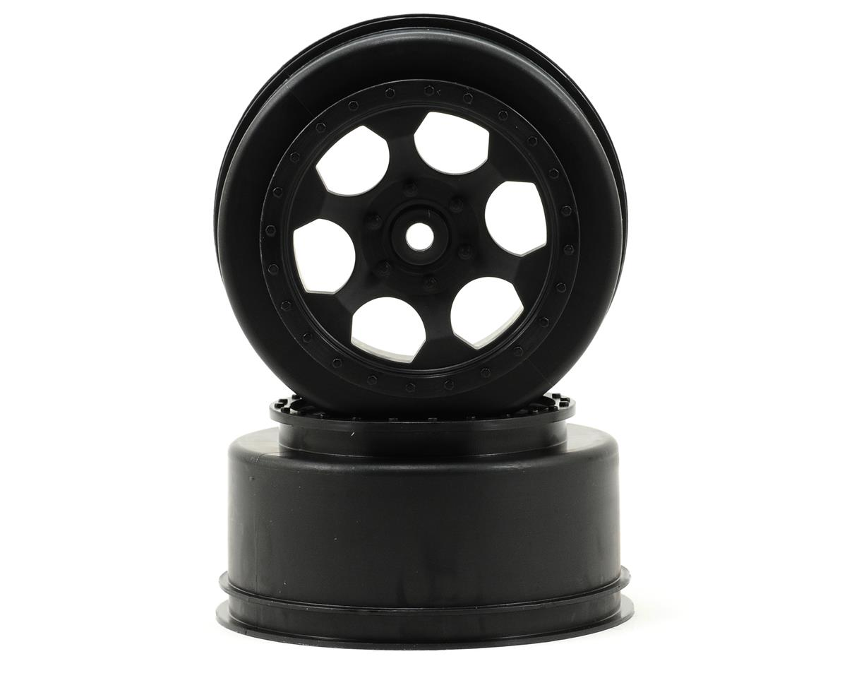 "12mm Hex ""Trinidad"" Short Course Wheels (Black) (2) (XXX-SCT/SCB Rear) by DE Racing"
