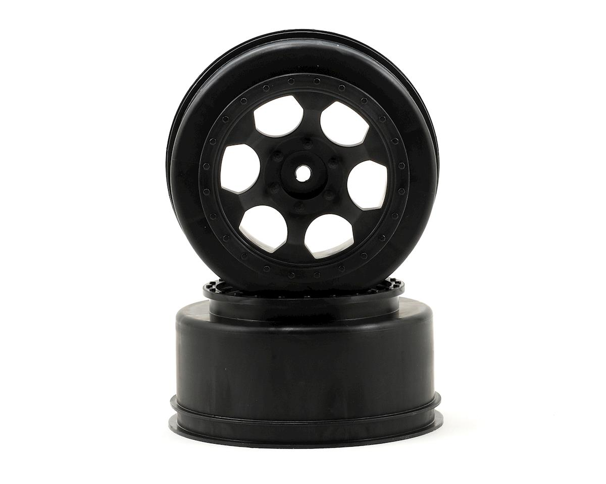 "DE Racing 12mm Hex ""Trinidad"" Short Course Wheels (Black) (2) (SC6/Slash/Blitz)"