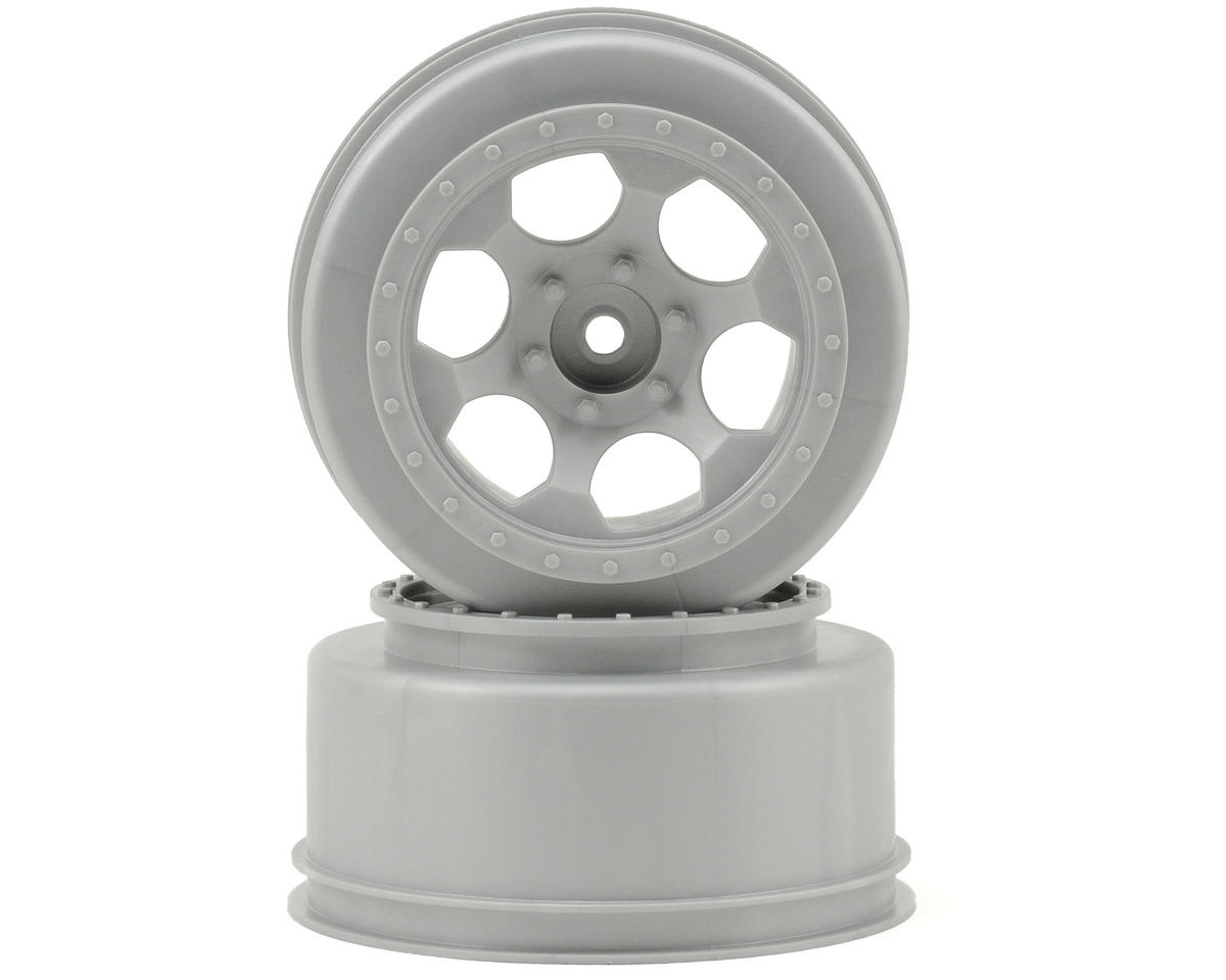 "DE Racing 12mm Hex ""Trinidad"" Short Course Wheels (Silver) (2) (SC6/Slash/Blitz)"