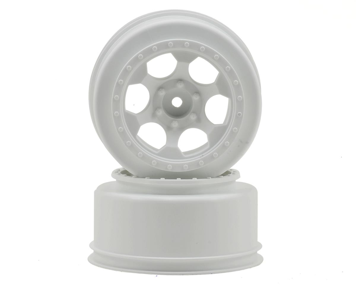 "DE Racing 12mm Hex ""Trinidad"" Short Course Wheels (White) (2) (SC6/Slash/Blitz)"