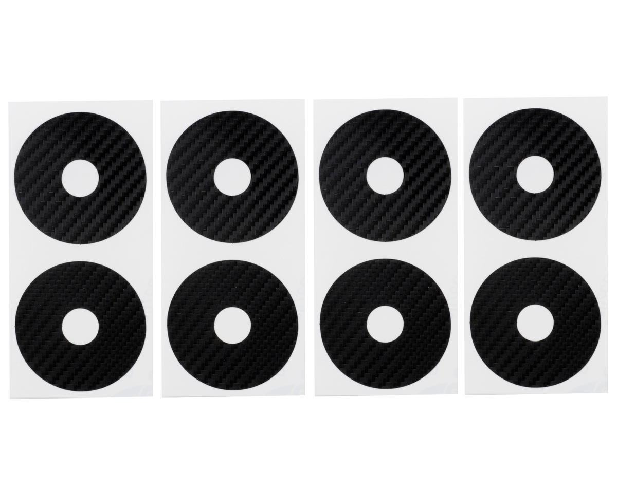 DE Racing 1/10 Buggy Wheel Sticker Disk (Black Carbon Fiber) (8)