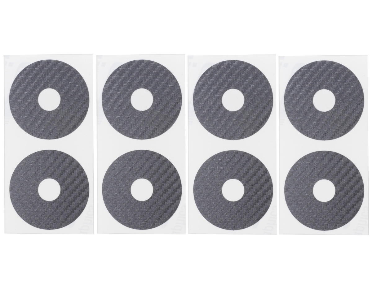 DE Racing 1/10 Buggy Wheel Sticker Disk (Silver Carbon Fiber) (8)