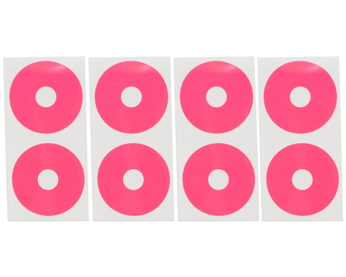 DE Racing 1/10 Buggy Wheel Sticker Disk (Hot Pink) (8)