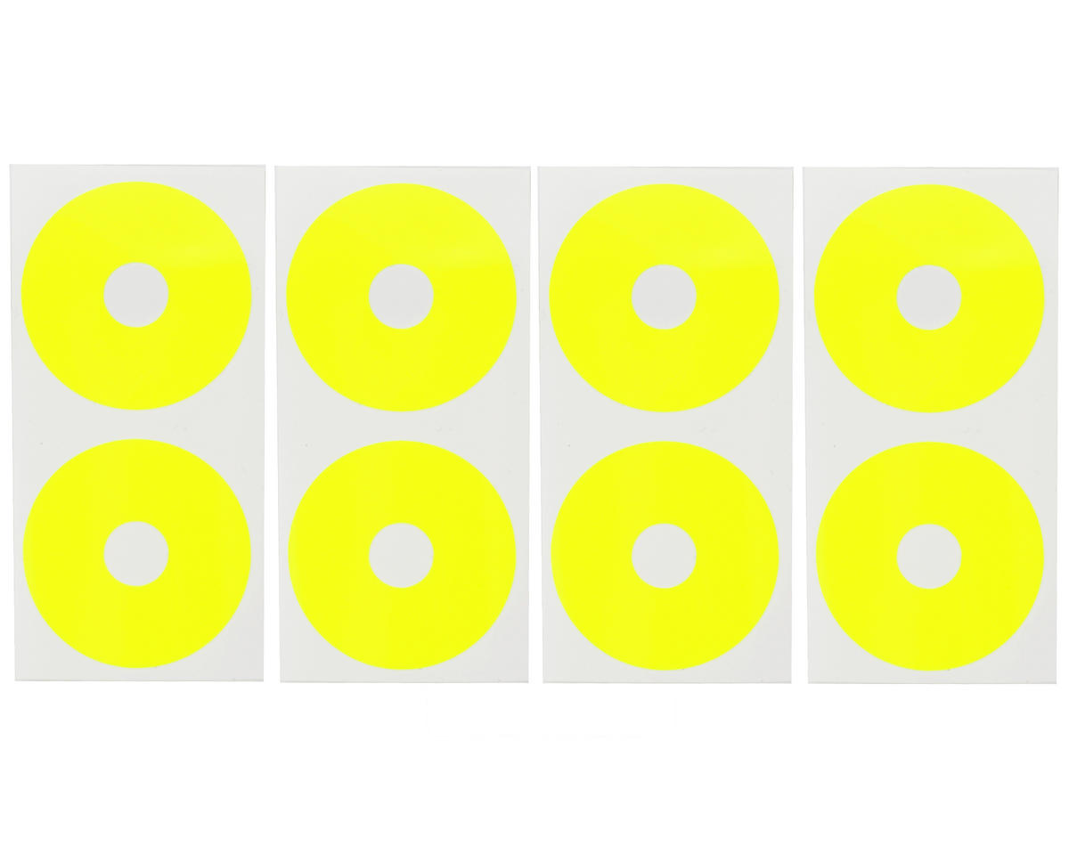 1/10 Buggy Wheel Sticker Disk (Fluorescent Yellow) (8) by DE Racing