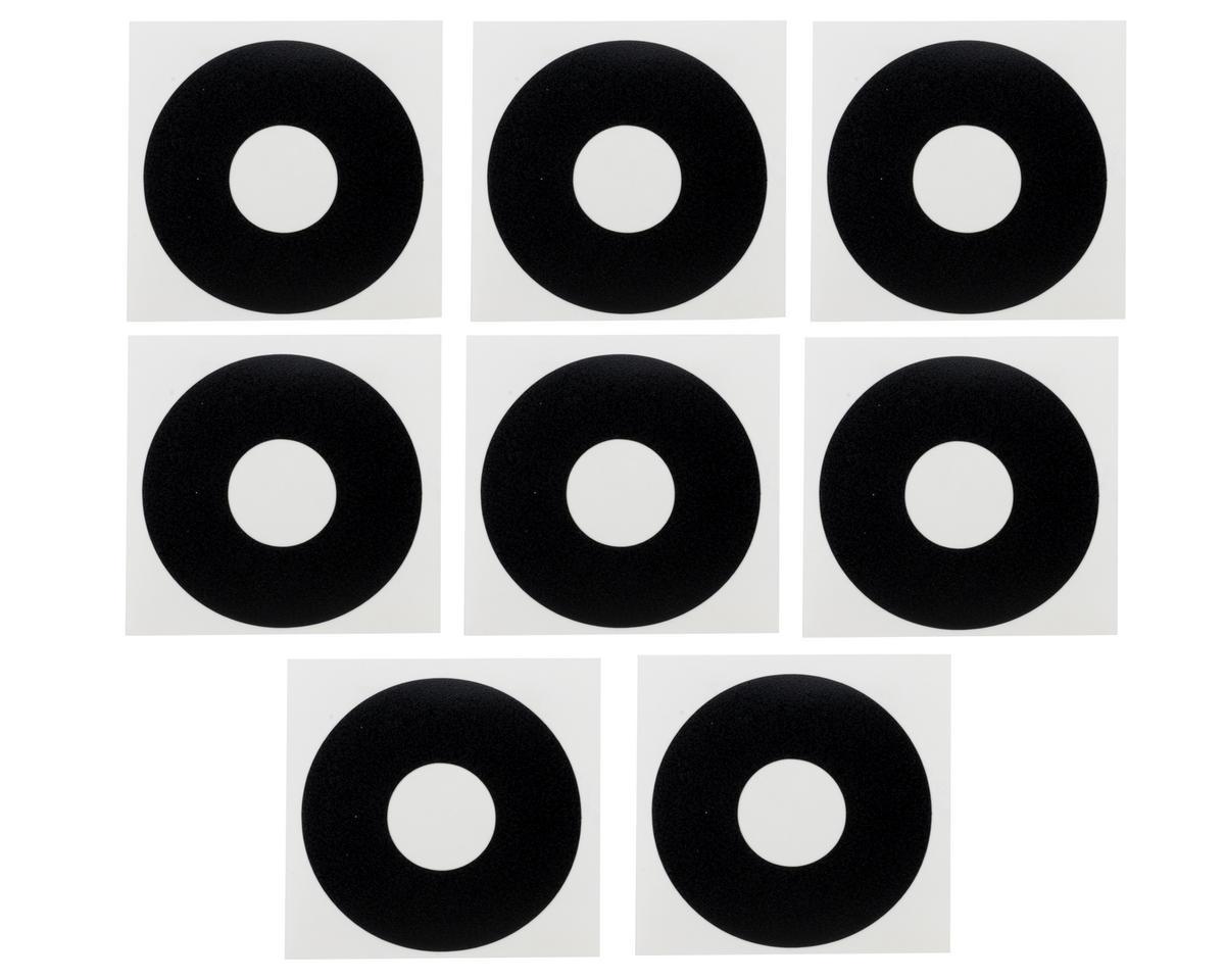 DE Racing 1/8 Buggy Wheel Sticker Disk (Matte Black) (8)