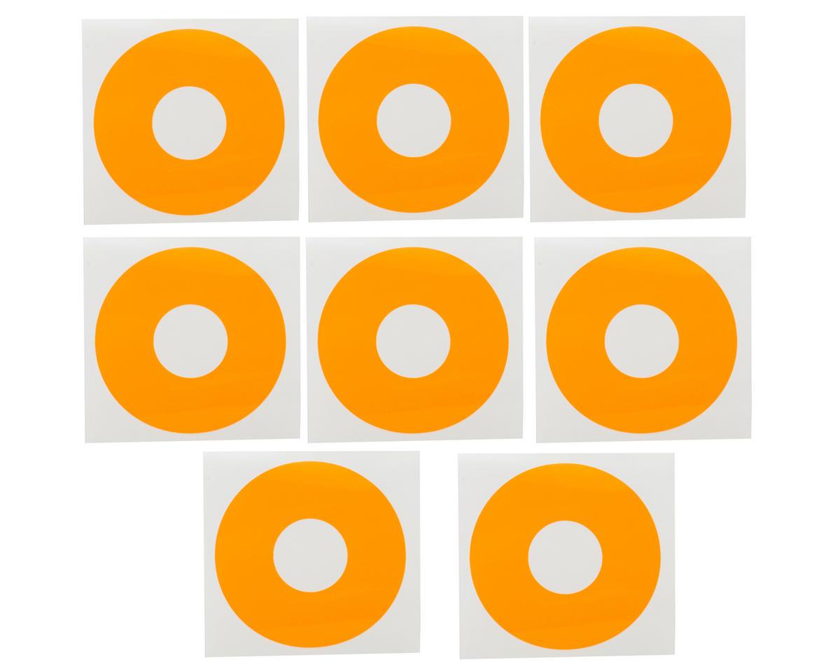 1/8 Buggy Wheel Sticker Disk (Fluorescent Orange) (8) by DE Racing