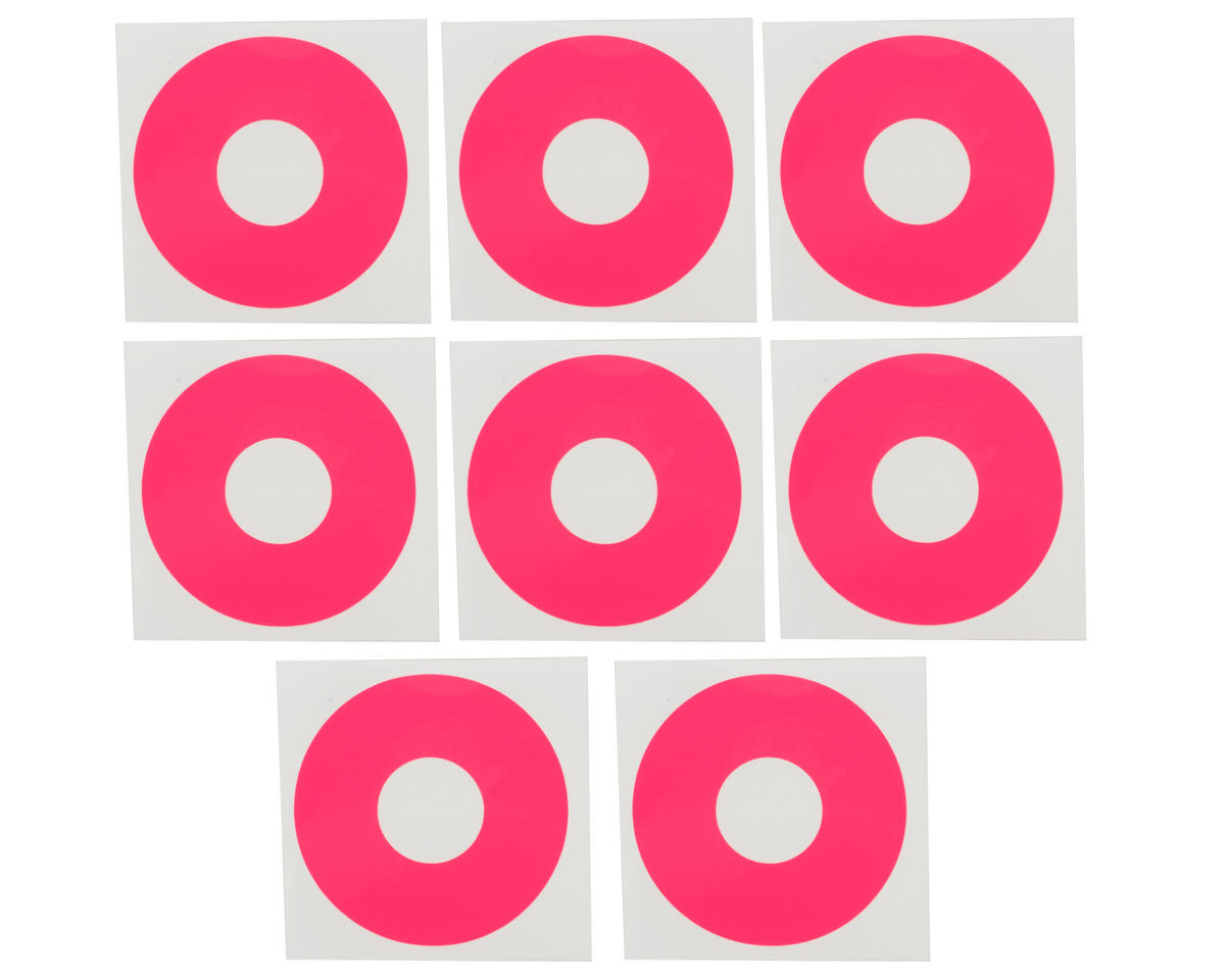 DE Racing 1/8 Buggy Wheel Sticker Disk (Hot Pink) (8)
