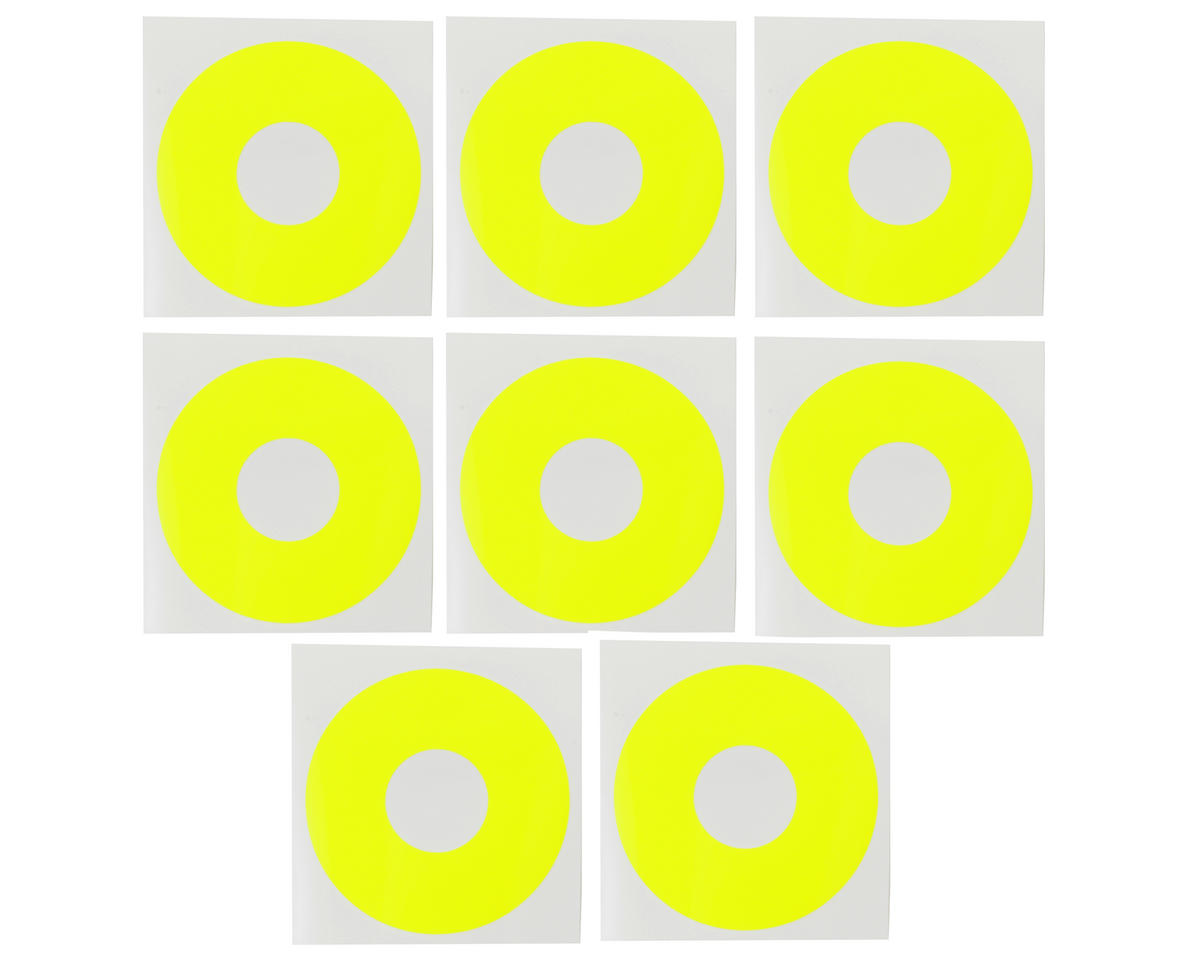 DE Racing 1/8 Buggy Wheel Sticker Disk (Fluorescent Yellow) (8)