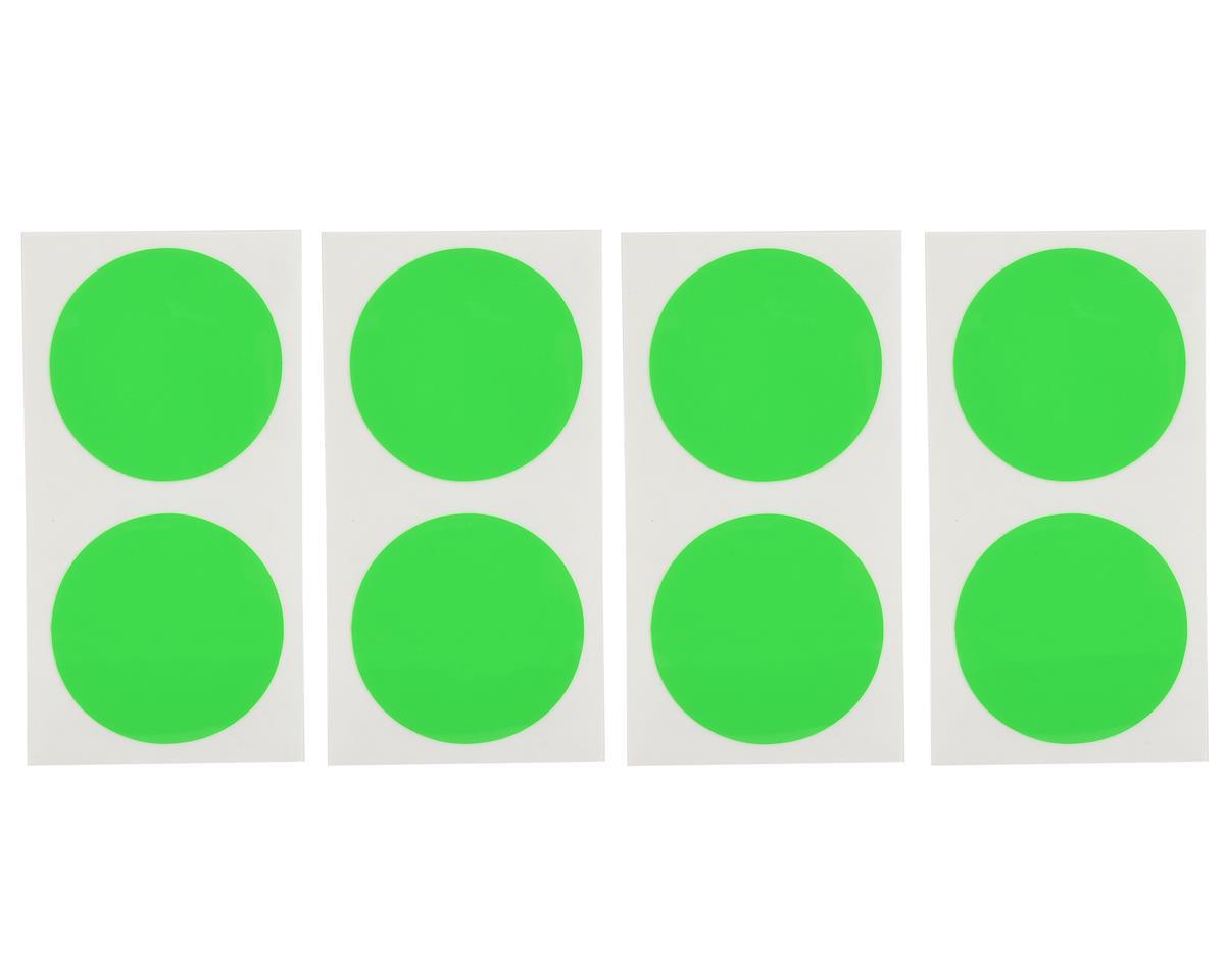 DE Racing Gambler Dirt Oval Mud Plug Wheel Sticker Disks (Green)