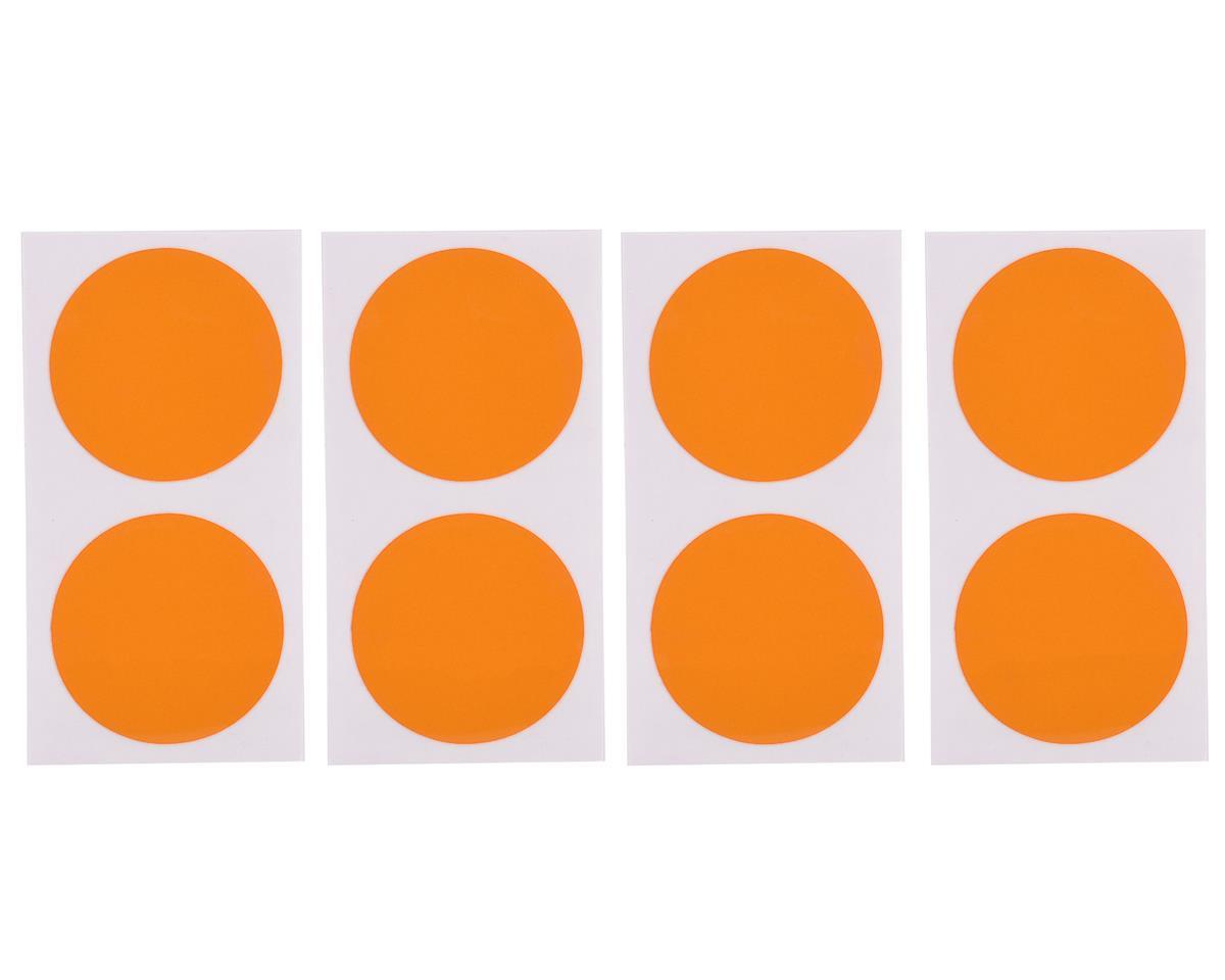 DE Racing Gambler Dirt Oval Mud Plug Wheel Sticker Disks (Orange)