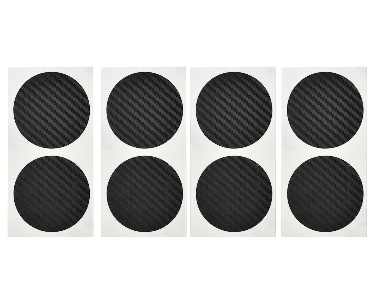 DE Racing Speedway Mud Plug Sticker Disks (Carbon Black) (8)