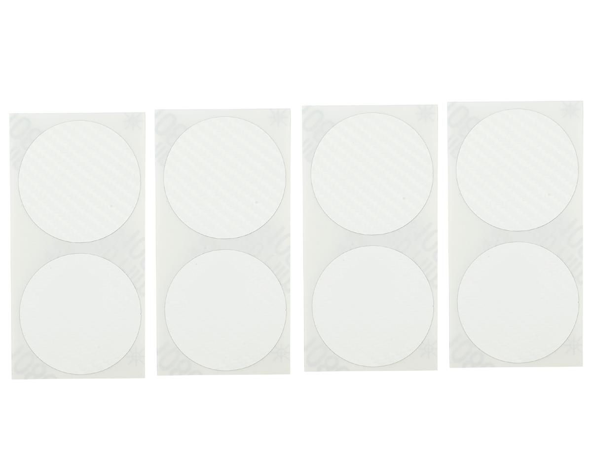 DE Racing Speedway Mud Plug Sticker Disks (White) (8)