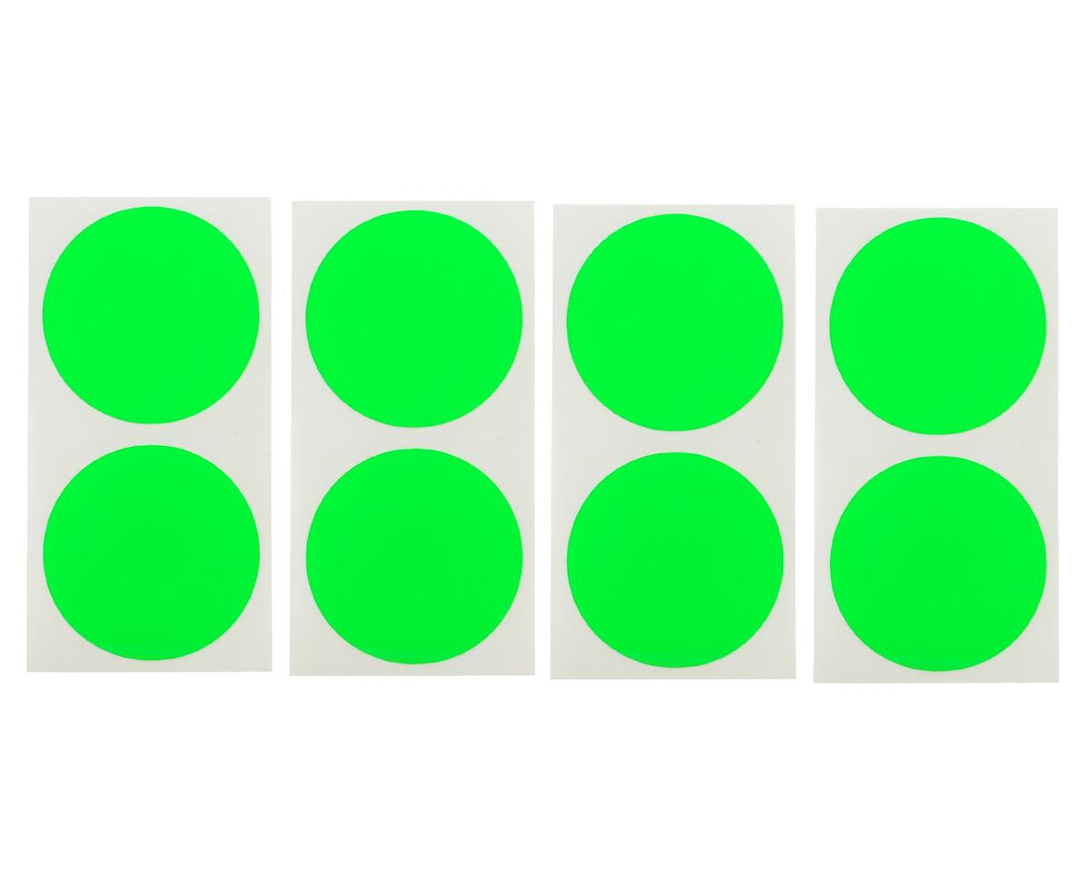DE Racing Speedway Mud Plug Sticker Disks (Green) (8)