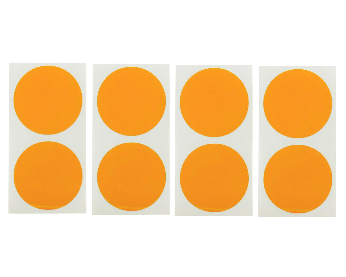 Speedway Mud Plug Sticker Disks (Orange) (8) by DE Racing