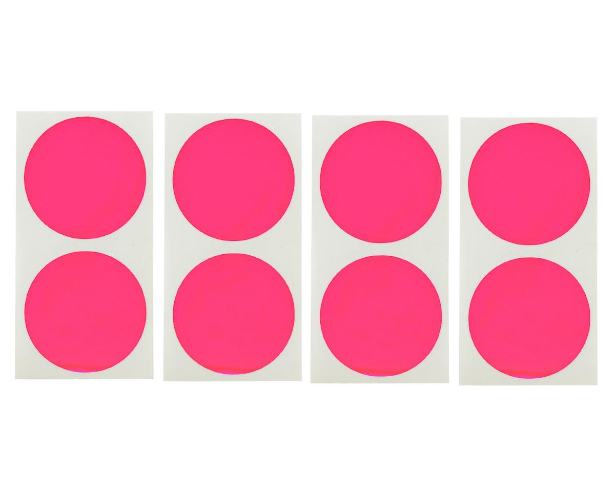 DE Racing Speedway Mud Plug Sticker Disks (Pink) (8)