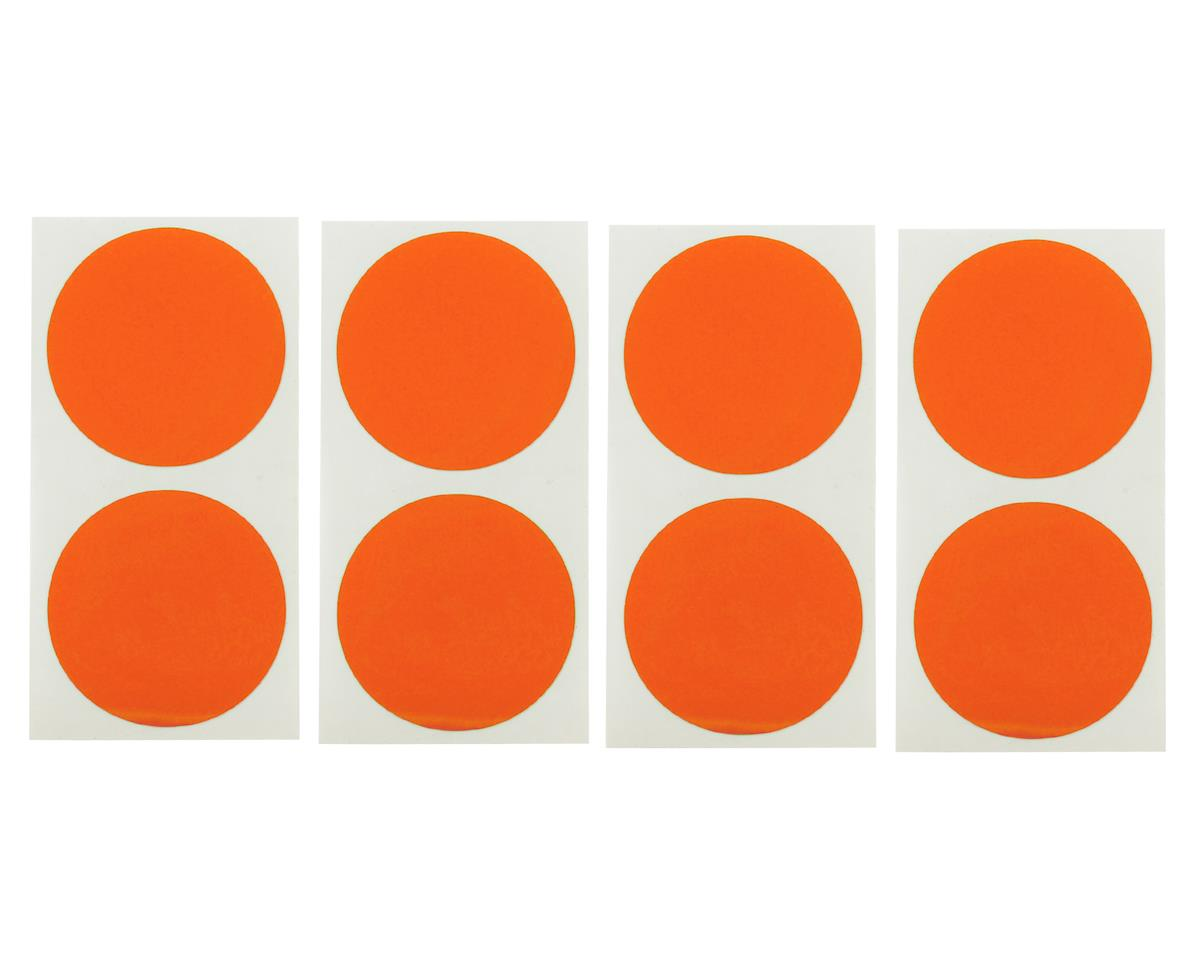 Speedway Mud Plug Sticker Disks (Red/Orange) (8) by DE Racing
