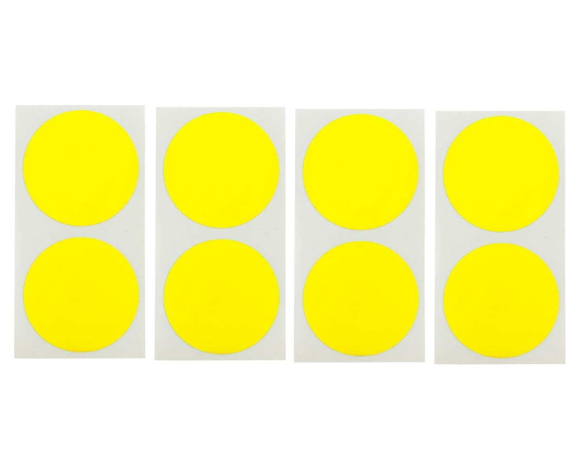 DE Racing Speedway Mud Plug Sticker Disks (Yellow) (8)