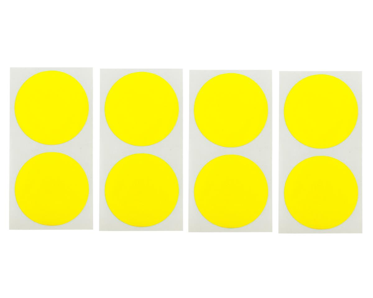 Speedway Mud Plug Sticker Disks (Yellow) (8) by DE Racing