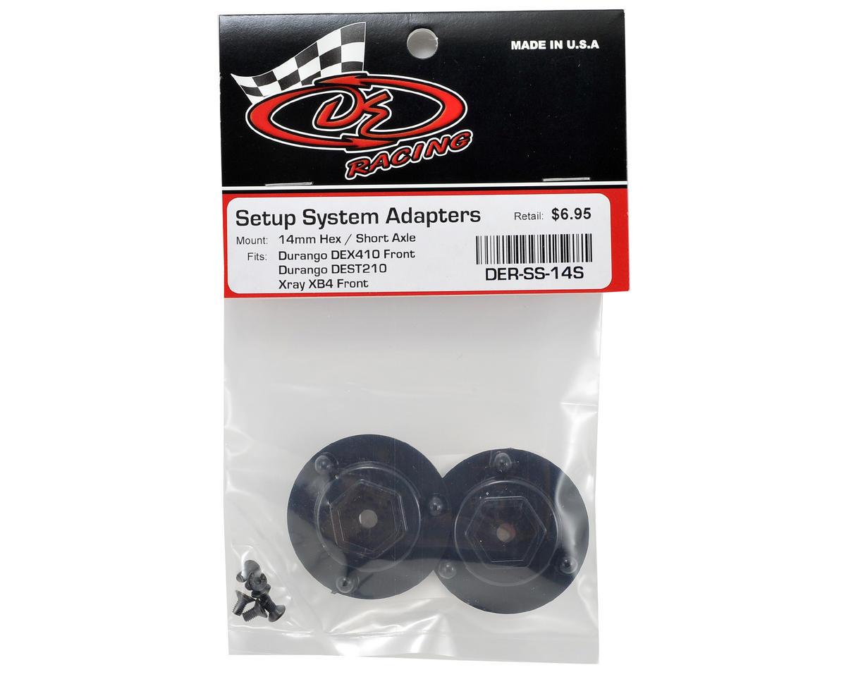 DE Racing 14mm Hex Short Axle Adapters (2)