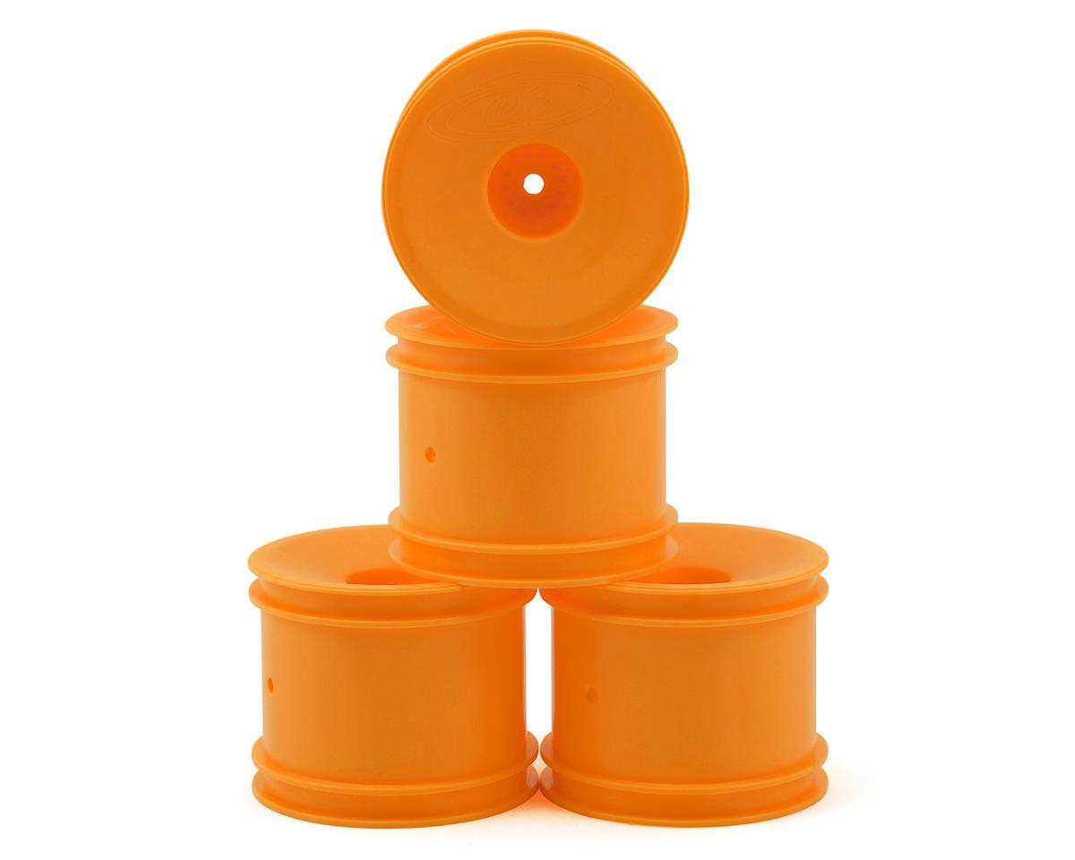 """DE Racing 12mm Hex """"Speedline"""" 2.2"""" 1/10 Stadium Truck Wheel (Orange) (4) (T4.2)"""