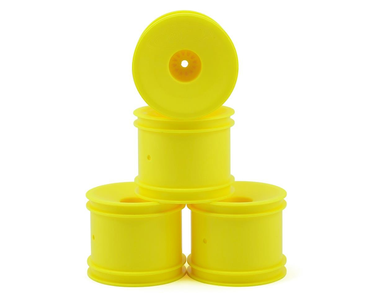 "DE Racing 12mm Hex ""Speedline"" 2.2"" 1/10 Stadium Truck Wheel (4) (T4.2) (Yellow) (Team Associated RC10 T6.1)"