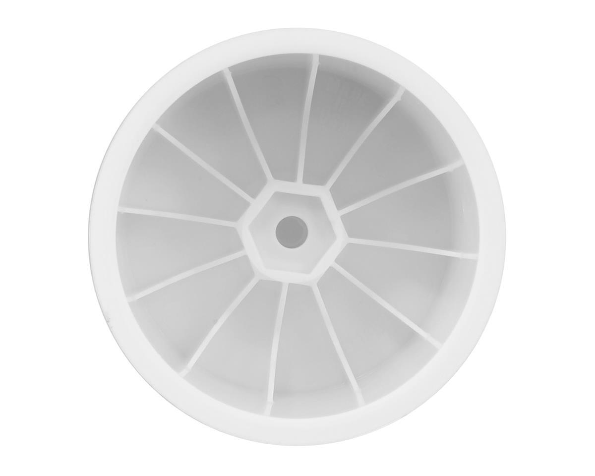"""DE Racing 12mm Hex """"Speedline"""" 2.2"""" 1/10 Stadium Truck Wheel (4) (22T) (White)"""